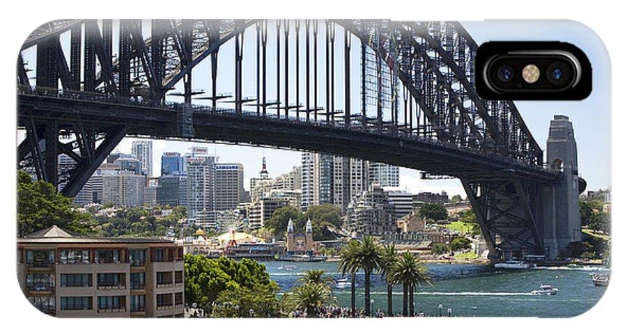 Sydney Harbour Bridge IPhone X Case featuring the photograph Sydney Harbour Bridge by Martin Berry