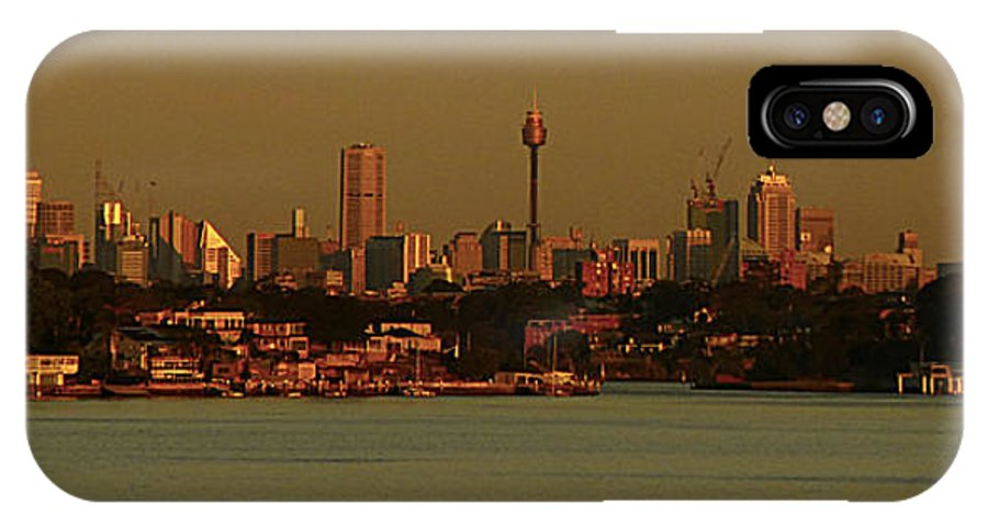 Sydney IPhone X Case featuring the photograph Sydney Sunset by Girish J
