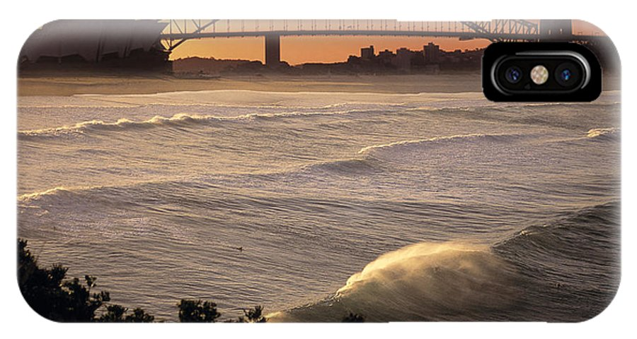 Sydney Opera House IPhone X Case featuring the photograph Sydney Surf Time by Sean Davey