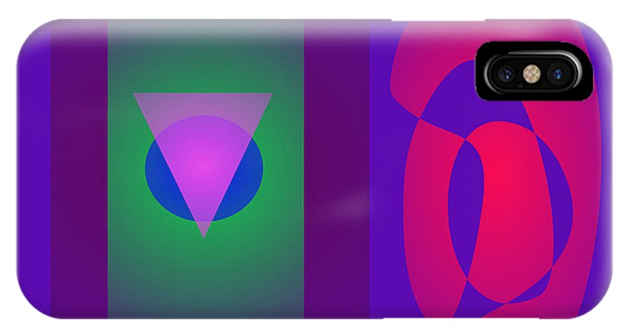 Gradation IPhone X Case featuring the digital art Symbols by Masaaki Kimura