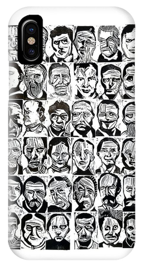 48 Portraits From The Szondi Test IPhone X Case featuring the drawing Szondi Test by Giba Gomes