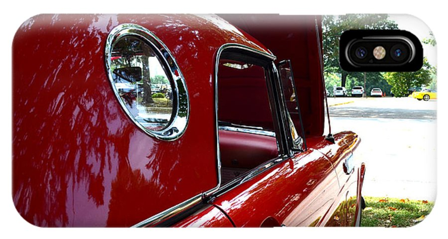 Quincy Illinois IPhone X Case featuring the photograph Vintage Car - Opera Window T-bird - Luther Fine Art by Luther Fine Art