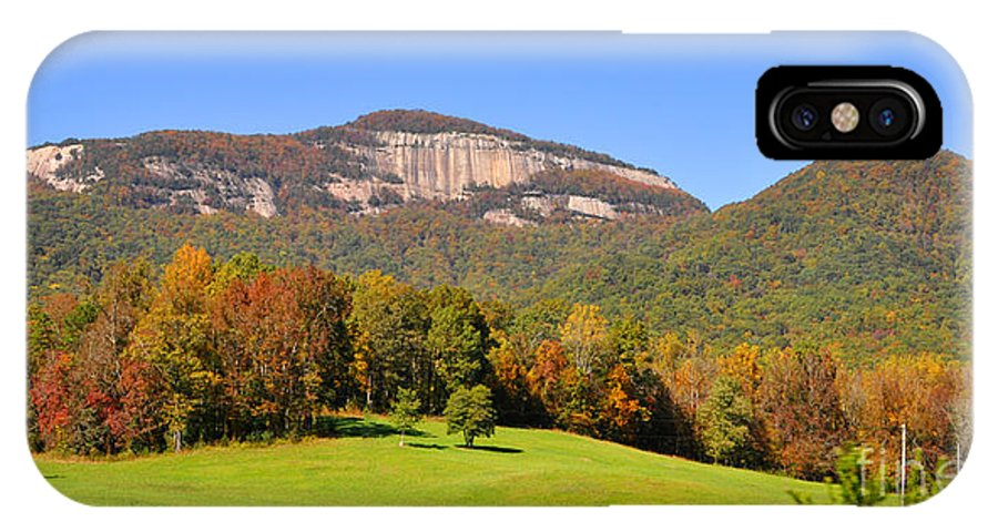 South Carolina IPhone X Case featuring the photograph Table Rock In Autumn by Lydia Holly