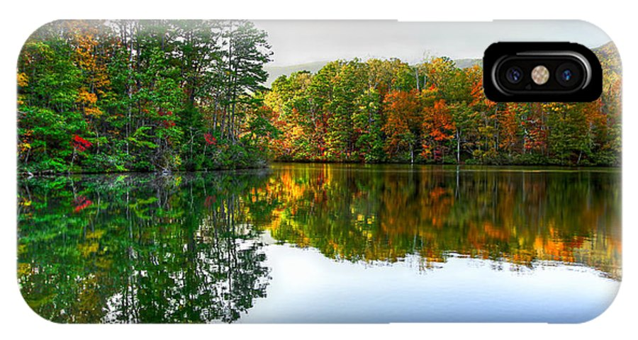 Table Rock Park IPhone X Case featuring the photograph Table Rock - Reflection by Douglas Berry