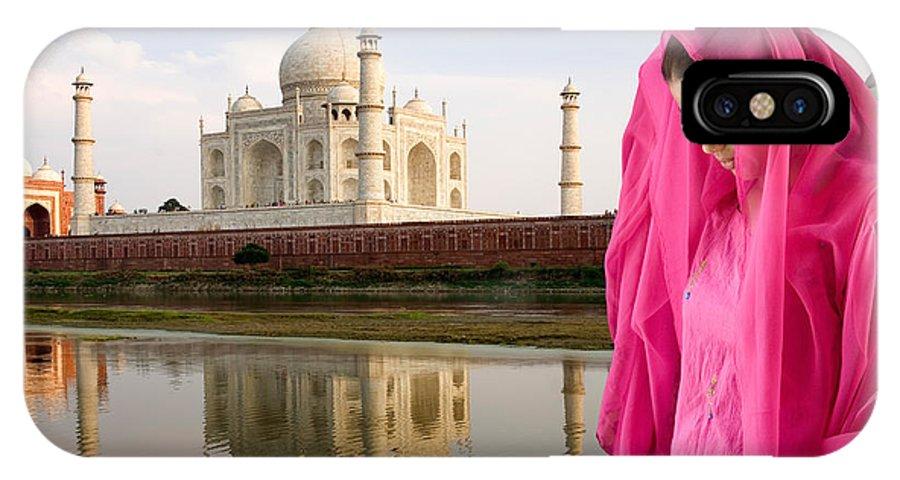 Landscape IPhone X / XS Case featuring the photograph Taj Mahal by David Davis