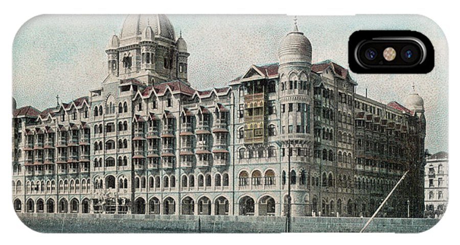 India IPhone X Case featuring the photograph Taj Mahal Hotel, Bombay (mumbai) by Mary Evans Picture Library