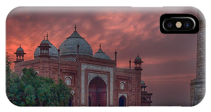 India Prints IPhone X Case featuring the photograph Taj Mahal Mosque At Sunset by Martin Belan