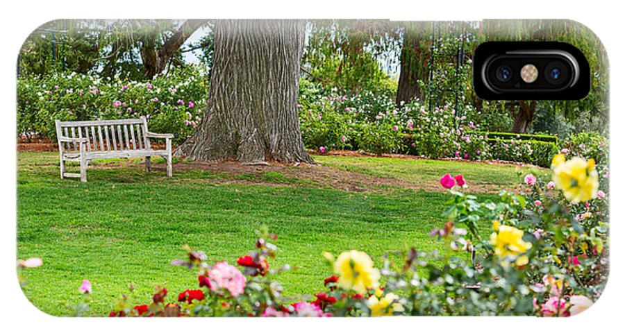 Take A Seat Beautiful Rose Garden Of The Huntington Library Iphone X Case For Sale By Jamie Pham