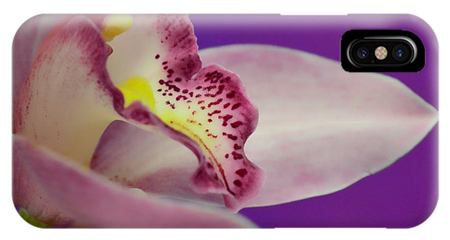 Orchid IPhone X Case featuring the photograph Take Me In Your Arms by Donna Blackhall