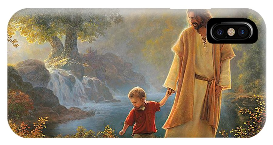 Jesus IPhone X Case featuring the painting Take My Hand by Greg Olsen
