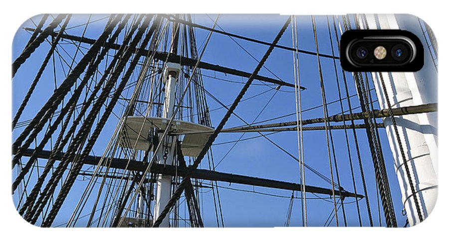 Rigging IPhone X Case featuring the photograph Tall Ship I by Mark McKinney
