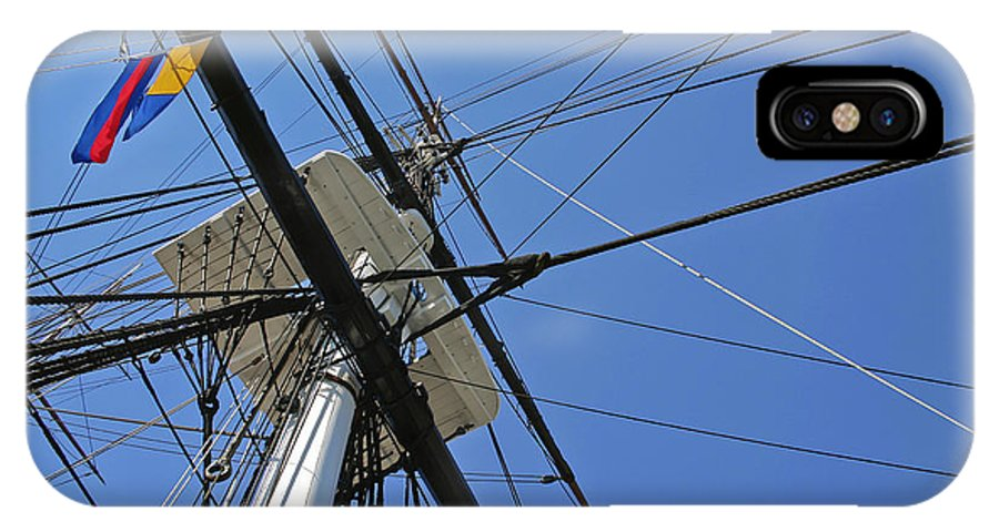 Ship IPhone X Case featuring the photograph Tall Ship II by Mark McKinney