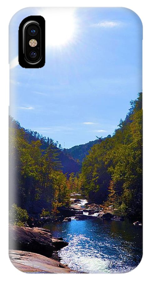 Tallulah Gorge IPhone X Case featuring the photograph Tallulah Gorge In October by James Potts