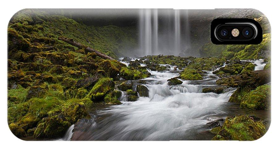 Tamawanas Falls IPhone X Case featuring the photograph Tamawanas Falls In Summer by Jackie Follett
