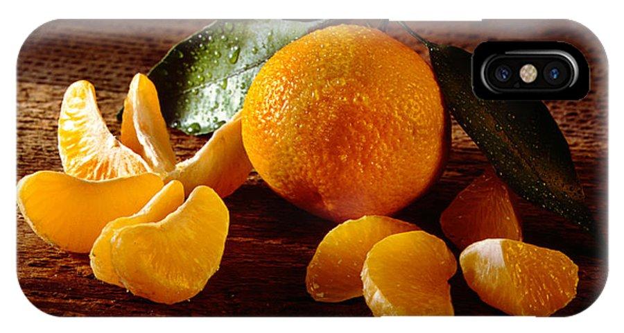 Iris Holzer Richardson IPhone X Case featuring the photograph Tangerine by Iris Richardson