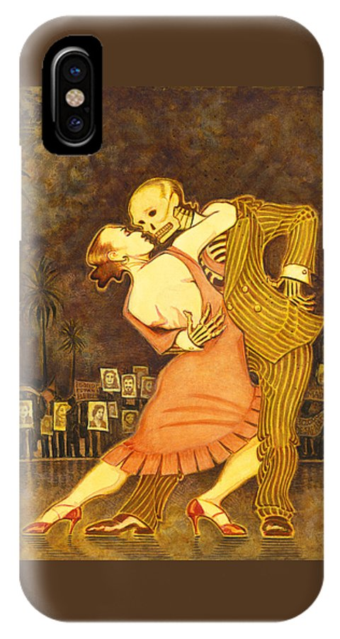 Abuelas De Plaza De Mayo IPhone X Case featuring the painting Tango En La Plaza De Mayo by Ruth Hooper