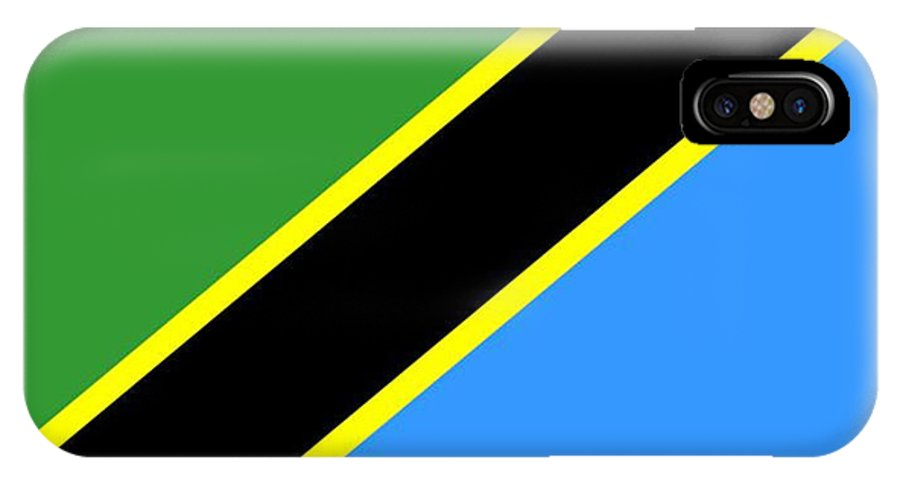 Tanzania IPhone X Case featuring the digital art Tanzania Flag by Frederick Holiday