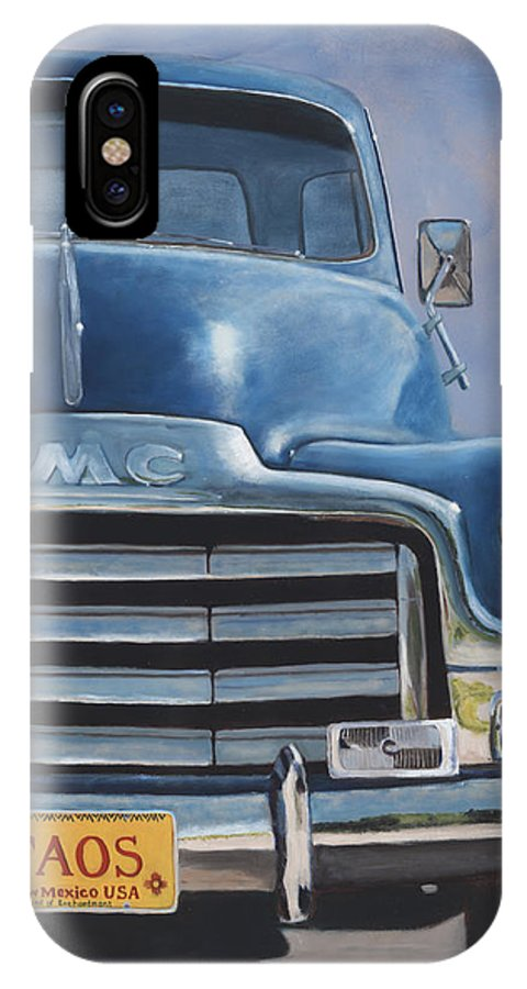 Trucks IPhone X Case featuring the painting Taos Truck by Jack Atkins