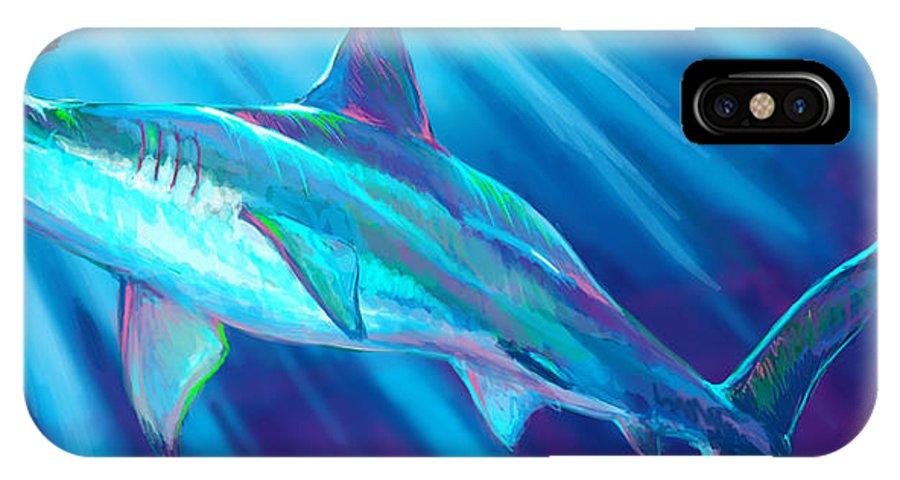 Fishing IPhone X Case featuring the digital art Tarpon Season by Yusniel Santos