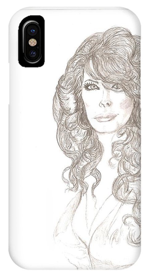 Portrait IPhone X Case featuring the photograph Taylor Swift by Garland Bell