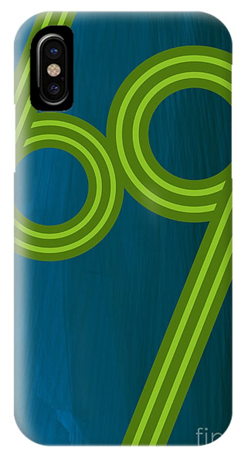 Pop IPhone X Case featuring the digital art Teal 69 by Sean Svendsen