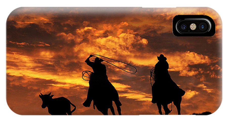 buy online 8f349 1635f Team Roping At Sunset IPhone X Case
