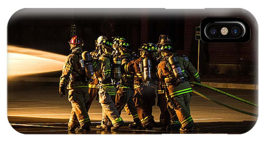 Extinguish IPhone X Case featuring the photograph Teamwork by Sennie Pierson