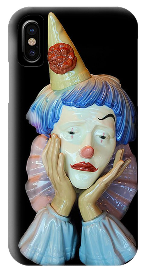 Clown IPhone X Case featuring the photograph Tears Of A Clown by Carlos Diaz