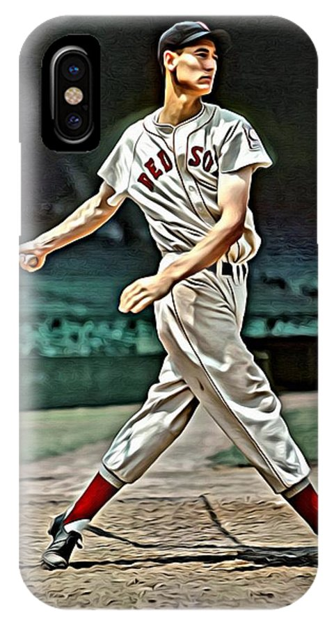 Mlb IPhone X Case featuring the painting Ted Williams Painting by Florian Rodarte