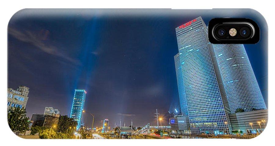 Tel Aviv IPhone X Case featuring the photograph Tel Aviv Nights by Simon Gelfand
