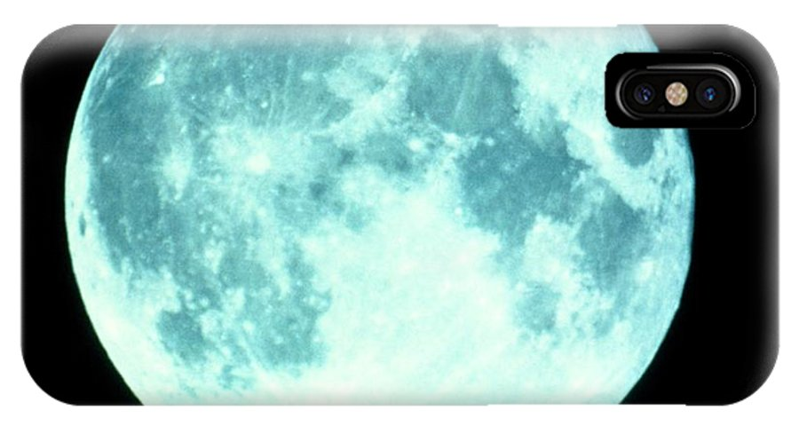 Crater Tycho IPhone X Case featuring the photograph Telescope Photo Of Full Moon From Earth by Dr Fred Espenak