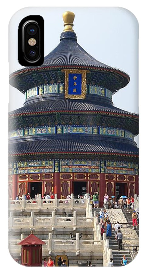 Temple IPhone X Case featuring the photograph Temple Of Heaven by Nathalie Hope