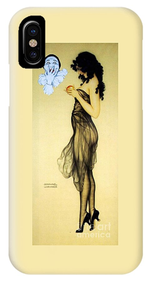 Pd IPhone X Case featuring the painting Temptation by Pg Reproductions