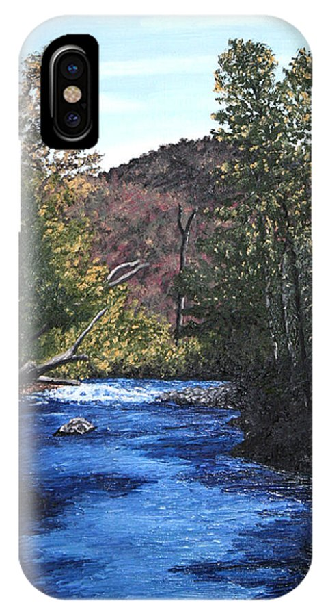 Landscape IPhone Case featuring the Tennessee A River Through The Woods by Beth Parrish