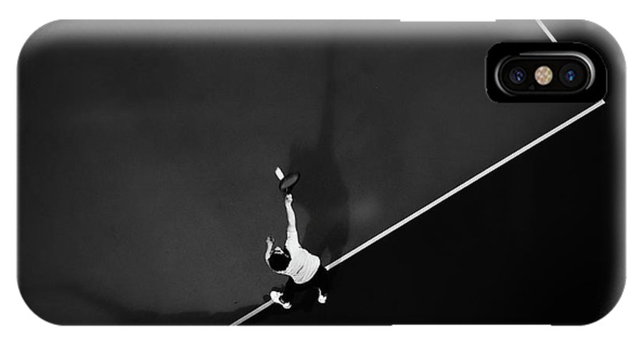 Aerial IPhone X Case featuring the photograph Tennis by Rui Caria