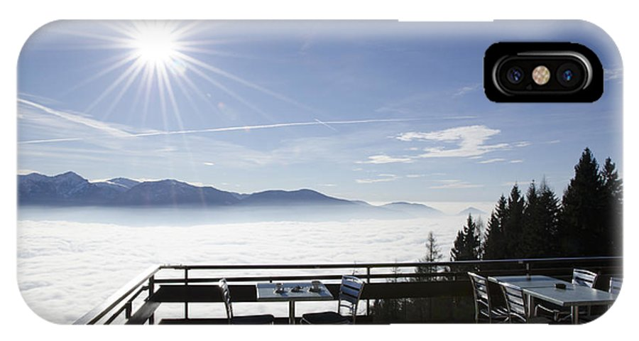 Sea Of Fog IPhone X Case featuring the photograph Terrace With Panoramic View by Mats Silvan