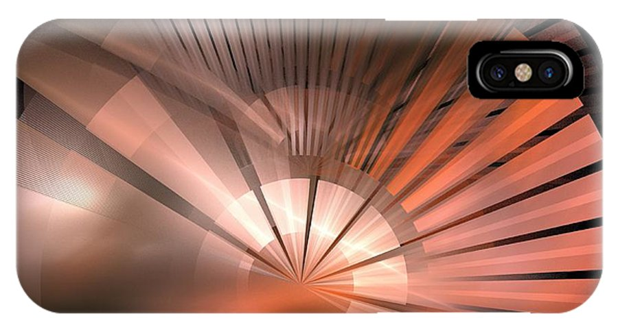 Apophysis IPhone X Case featuring the digital art Tessen by Kim Sy Ok