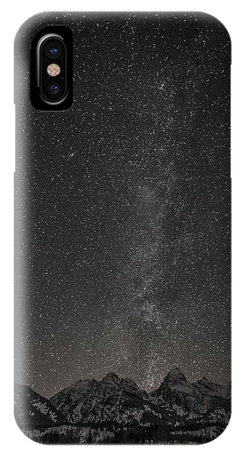 Grand Tetons IPhone X Case featuring the photograph Teton Milky Way by Sheets Studios
