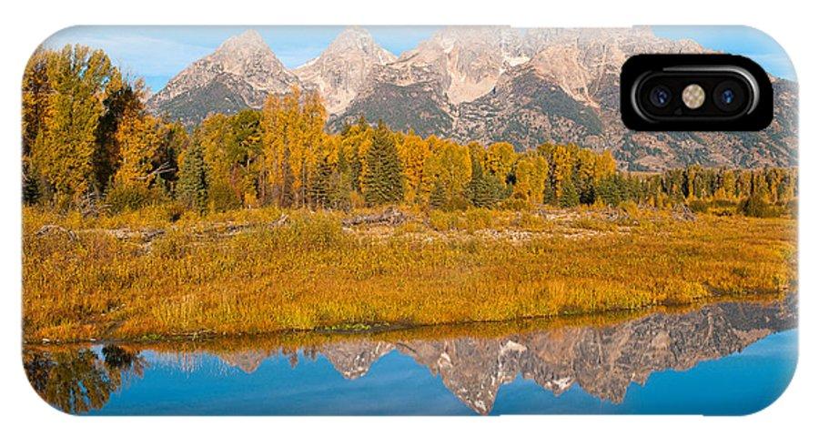 Grand Tetons IPhone X Case featuring the photograph Teton Moon by Steve Stuller