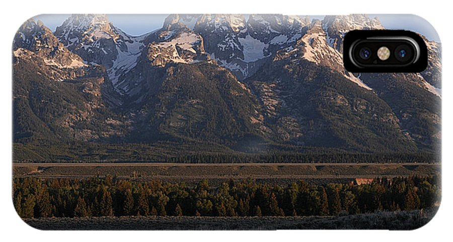 Teton Mountains IPhone X Case featuring the photograph Teton Sunrise by Cyril Furlan