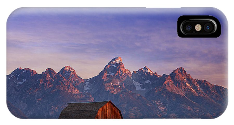 Tetons IPhone X Case featuring the photograph Teton Sunrise by Darren White