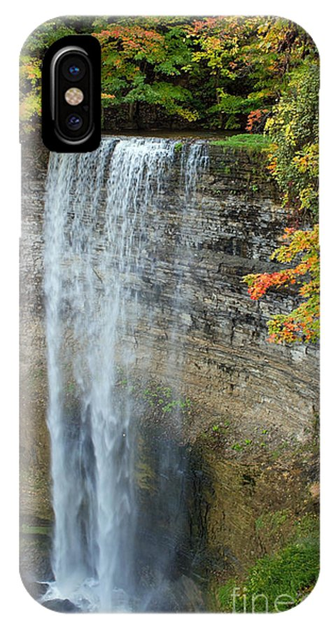 Tews Falls IPhone X Case featuring the photograph Tews Falls In Autumn by Barbara McMahon