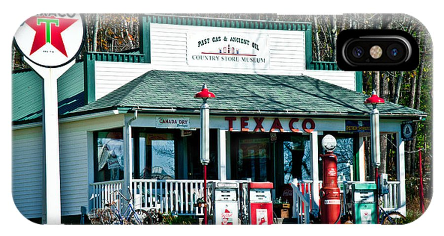 Texaco IPhone X Case featuring the photograph Texaco Gas Station by Alana Ranney