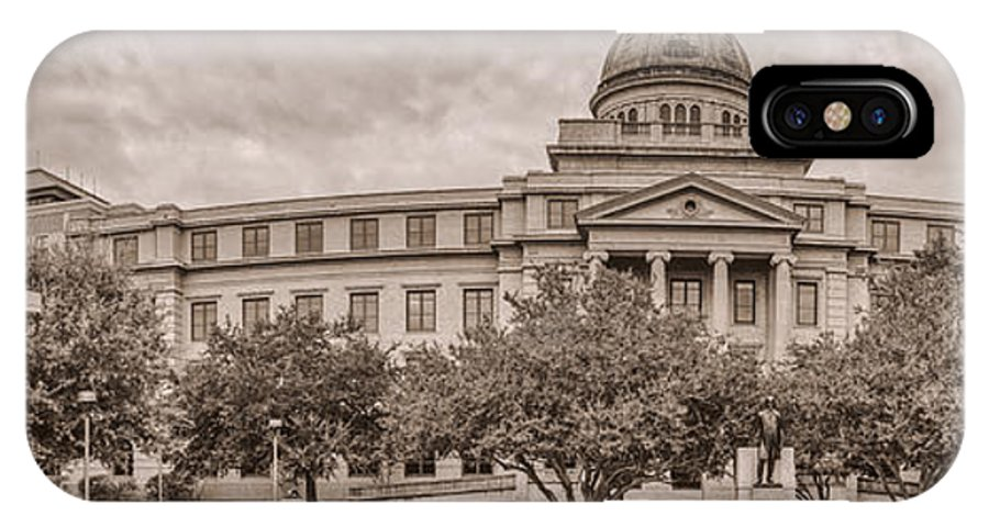 Texas A & M IPhone X Case featuring the photograph Texas A And M Academic Plaza - College Station Texas by Silvio Ligutti