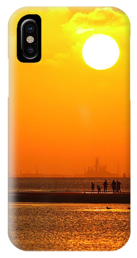 Texas City IPhone X Case featuring the photograph Texas City Sunset 2am-12561 by Andrew McInnes