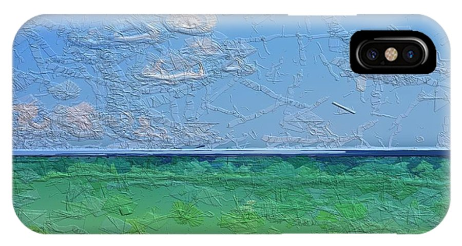 Glazeapp IPhone X Case featuring the photograph Textured Beach Series 1 Of 2 by May Photography