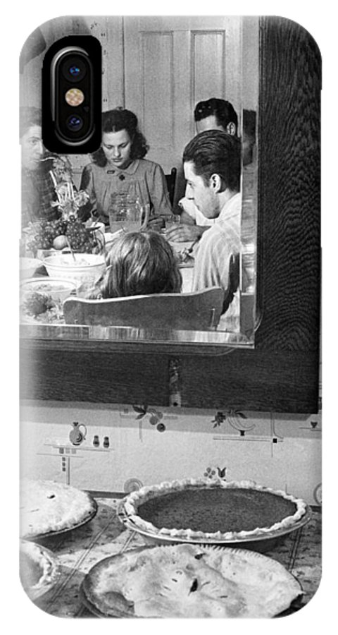 1940 IPhone X / XS Case featuring the photograph Thanksgiving, 1940 by Granger