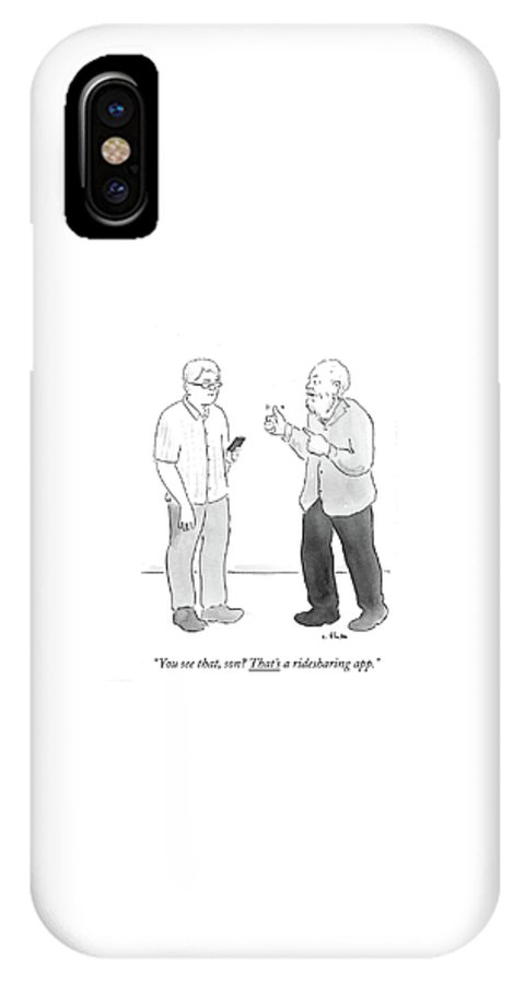 You See That IPhone X Case featuring the drawing That's A Ridesharing App by Emily Flake