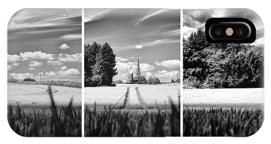 Thaxted IPhone X / XS Case featuring the photograph Thaxted Mill Triptych by Jack Torcello