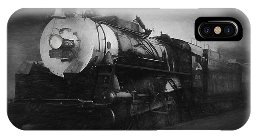 Trains IPhone X Case featuring the photograph The 1702 Locomotive by Richard Rizzo